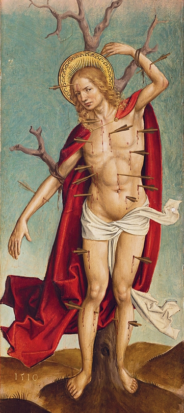Majster z Okoličného – Sv. Sebastián z oltára v Smrečanoch, 1510